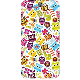 Mobicture Cute Owls Premium Printed High Quality Polycarbonate Hard Back Case Cover For HTC One A9 With Edge To Edge Printing