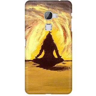 Mobicture Lord Shiva Silhoutte In Orange Premium Printed High Quality Polycarbonate Hard Back Case Cover For LeEco Le Max With Edge To Edge Printing