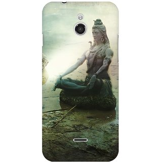 Mobicture The Great Shiva Statue Sitting By Lake Premium Printed High Quality Polycarbonate Hard Back Case Cover For InFocus M2 With Edge To Edge Printing