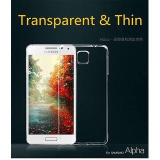 PLAIN TRANSPARENT SOFT GEL CLEAR BACK COVER CASE FOR Samsung Galaxy Alpha G850
