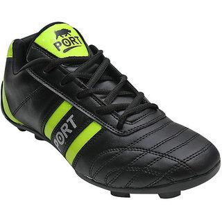 Arynas Womens Port Livian Black Pu Soccer Shoes