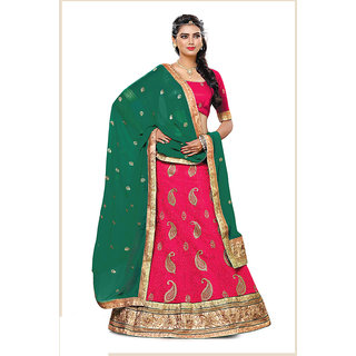 Melluha RANI 60 gm Georgette unstitched lehenga choli with Georgette Dupatta