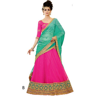 Melluha Rani Soft Net With Diamond Work Lehenga With Firozi Dupatta Having Soft Net With Diamond Butti Work