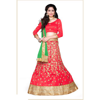 Melluha Gajari Net unstitched lehenga choli with Georgette Dupatta