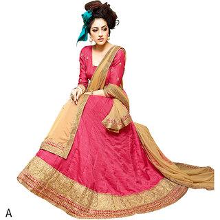 Melluha Gajari Banglori Silk With Diamond Work Lehenga With Chiku Dupatta Having Chiffon With Diamond Butti Work