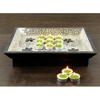 Hosley Set of 30 Highly Fragranced Lemongrass Tea Light Candles