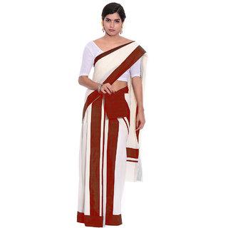 Fashionkiosks Kerala Cotton Kasavu Set Mundu with Blouse 4048