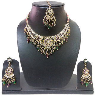 jaipuri Imitation Kundan Necklace Set