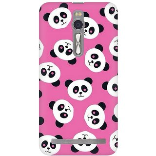 Mobicture Panda Love Premium Printed High Quality Polycarbonate Hard Back Case Cover For Asus Zenfone 2 With Edge To Edge Printing