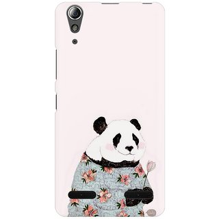 Mobicture Panda Grandma Premium Printed High Quality Polycarbonate Hard Back Case Cover For Lenovo A6000 With Edge To Edge Printing