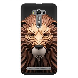Mobicture Paper Art Lion Premium Printed High Quality Polycarbonate Hard Back Case Cover For Asus Zenfone 2 Laser ZE550KL With Edge To Edge Printing
