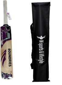 W sports 100 Boundaries Kashmir Willow Bat (Sarawak full cane) (Size-4)
