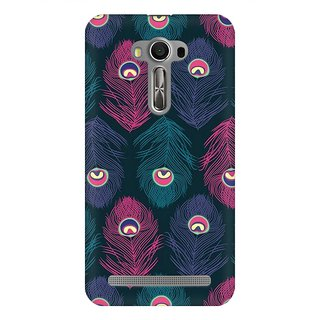 Mobicture Peacock Fethers Premium Printed High Quality Polycarbonate Hard Back Case Cover For Asus Zenfone 2 Laser ZE500KL With Edge To Edge Printing