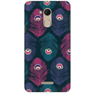 Mobicture Peacock Fethers Premium Printed High Quality Polycarbonate Hard Back Case Cover For Coolpad Note 5 With Edge To Edge Printing