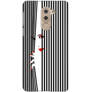 Mobicture Peek Through Premium Printed High Quality Polycarbonate Hard Back Case Cover For Huawei Honor 6X With Edge To Edge Printing