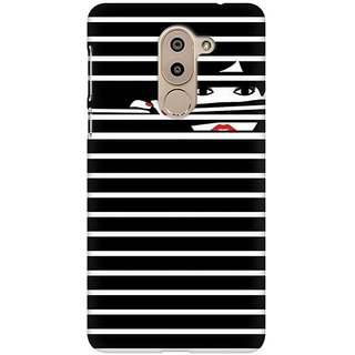 Mobicture Peekaboo Premium Printed High Quality Polycarbonate Hard Back Case Cover For Huawei Honor 6X With Edge To Edge Printing