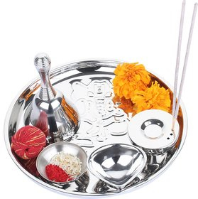 Sayee Double Walled Stainless Steel Pooja Thali