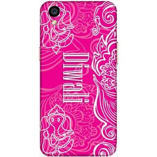 Print Opera Hard Plastic Designer Printed Phone Cover for Oppo a37 - Diwali Pink