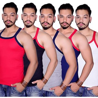 Knight Riders Pack Of 5 Gym Vests For Men