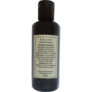 Khadi Amla & Bhringraj Shampoo 210 ML (Pack of 1)