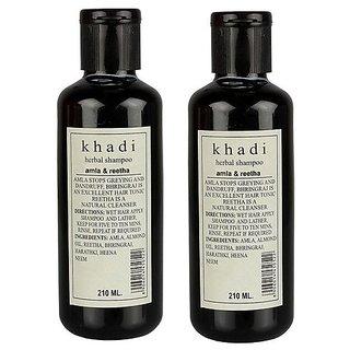 Khadi Amla and Reetha Shampoo 210 ML (Pack of 2)