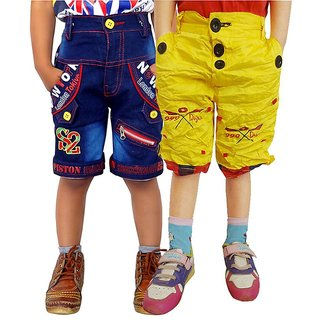AD & AV Multicolour Cotton Shorts - Pack Of 2