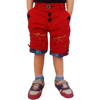 AD & AV Red Shorts For Boys