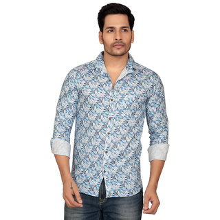 Garun Men's Cotton Solid Casual Slim Fit Shirt