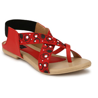 Rimezs Slip On 298 Red Sandals