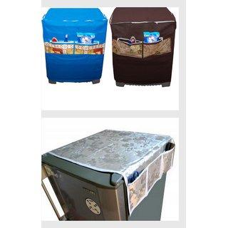 Grihshobha Combo Of Washing Machine Cover And Fridge Cover (wf1)
