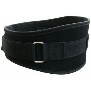 arnav Weight Lifting Non-Leather Gym Belt  for Light and Heavy Exercise With Strap and foad Padded 6 back