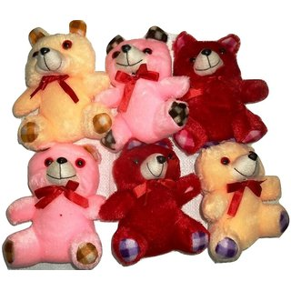 only4you Teddy Bear Soft Toy 6 Pcs. Set