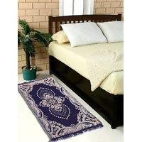 Luxmi Beautiful looking Printed Velvet Bed side Runner - Blue