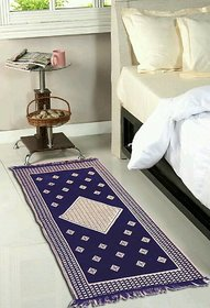 Luxmi Beautiful looking Print Velvet poly Runner - Black