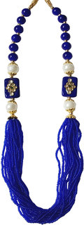 Bhagya Lakshmi Blue colour 20 layer stylish mala for women and girls