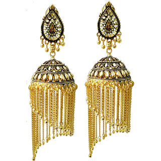 Bhagya Lakshmi Jalar style antique jumki for women