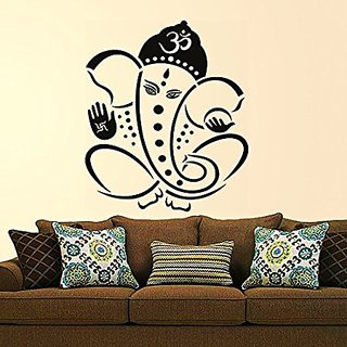 53587700382 Stickers Design  Pious Lord Ganesha  Wall Sticker (PVC Vinyl