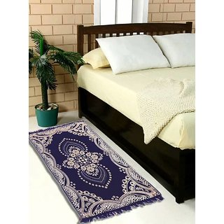 Luxmi Beautiful looking Printed Velvet Bed side Runner - Blue