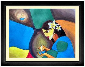 Women Handmade Painting Framed