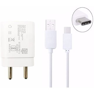 New 2 Amp Fast TYPE C Charger With USB Cable For Samsung Galaxy S8 , S8 edge , C9 Pro, C7 Pro , Samsung A7  2017   White Adapters   Chargers