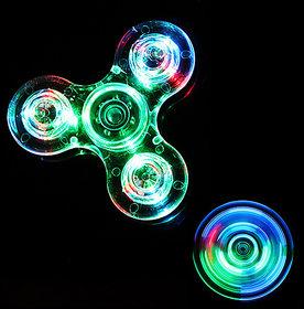 Imstar Crystal Transparent Fidget Spinner with Light