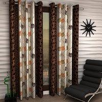 Honey Tex plain door curtains set of 2 (4x7)