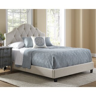 Winger Gray Queen Upholstered Panel Bed