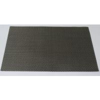 High Quality Basket Weave / Gripper Table Mats Set Of 6 Pcs - Dark Grey