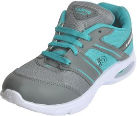 Camro Men's Light Green  Grey Stylish Synthetic Sports  Running Outdoor Shoes