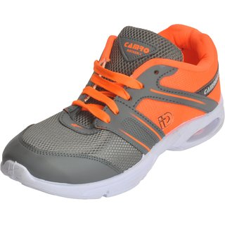 4d0e25be7073 Buy Camro Men s Orange Grey Stylish Synthetic Sports Running Outdoor Shoes  Online - Get 56% Off