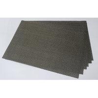 High Quality Basket Weave / Gripper Table Mats Set Of 6 Pcs - Dark Grey