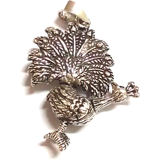 Peacock Pendant - sterling silver