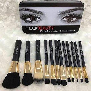f2df6e09ce3e0 Buy Huda Beauty 12 pcs Face And Eyes Wet Powder Makeup Brush Set ...