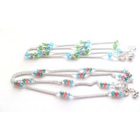 COMPO PACK OF FANCY CRYSTAL ANKLETS FOR REDULAR WEAR , PARTY WEAR , ETC.